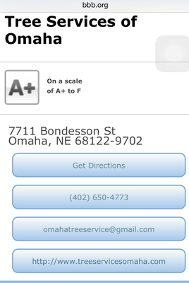 Tree Services of Omaha - BBB Rating